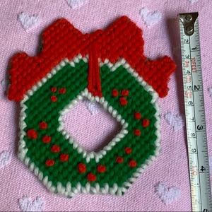 "4.5"" Christmas wreath yarn 🧶 decoration vintage"
